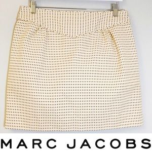 Marc Jacobs Structured Cream and Burgundy Skirt